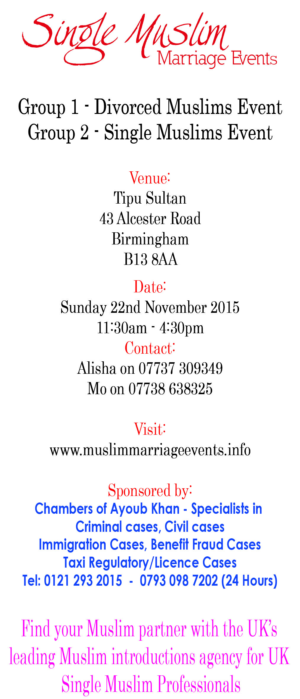 Single muslim events birmingham