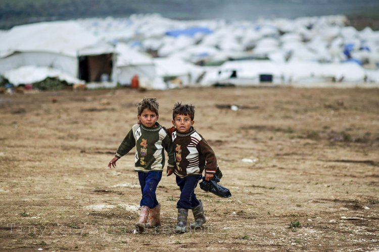 Two Child Syrian Refugees