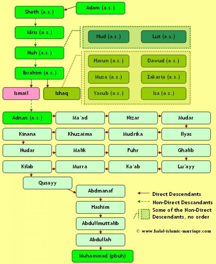 Схема потомков пророков