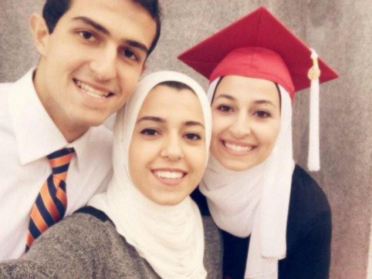 Deah, Yusur and Razan - three young Muslims killed in America