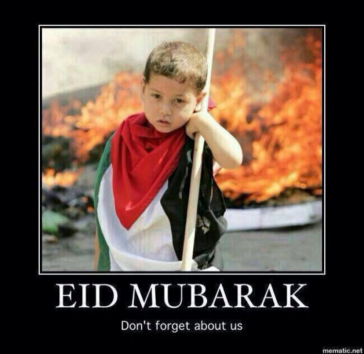 Eid Mubarak - As you celebrate, please do not forget Gaza or any other Muslims currently in suffering