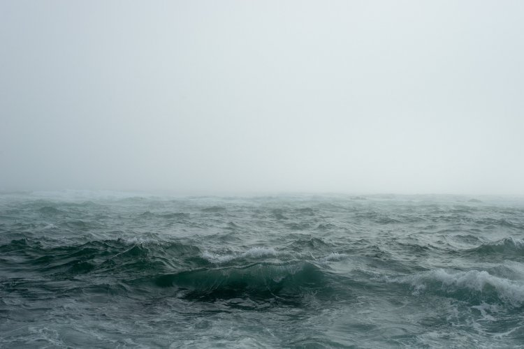 Choppy waters showing an uncertain path