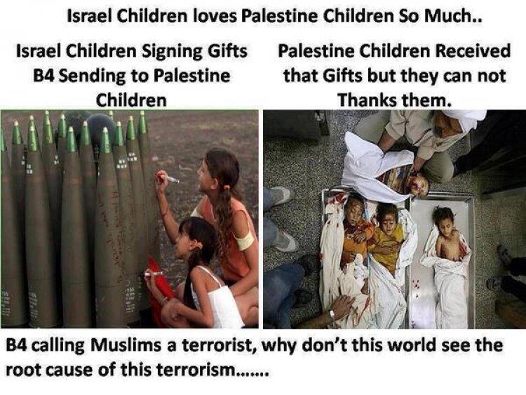 Israeli children signing bombs heading for Gaza