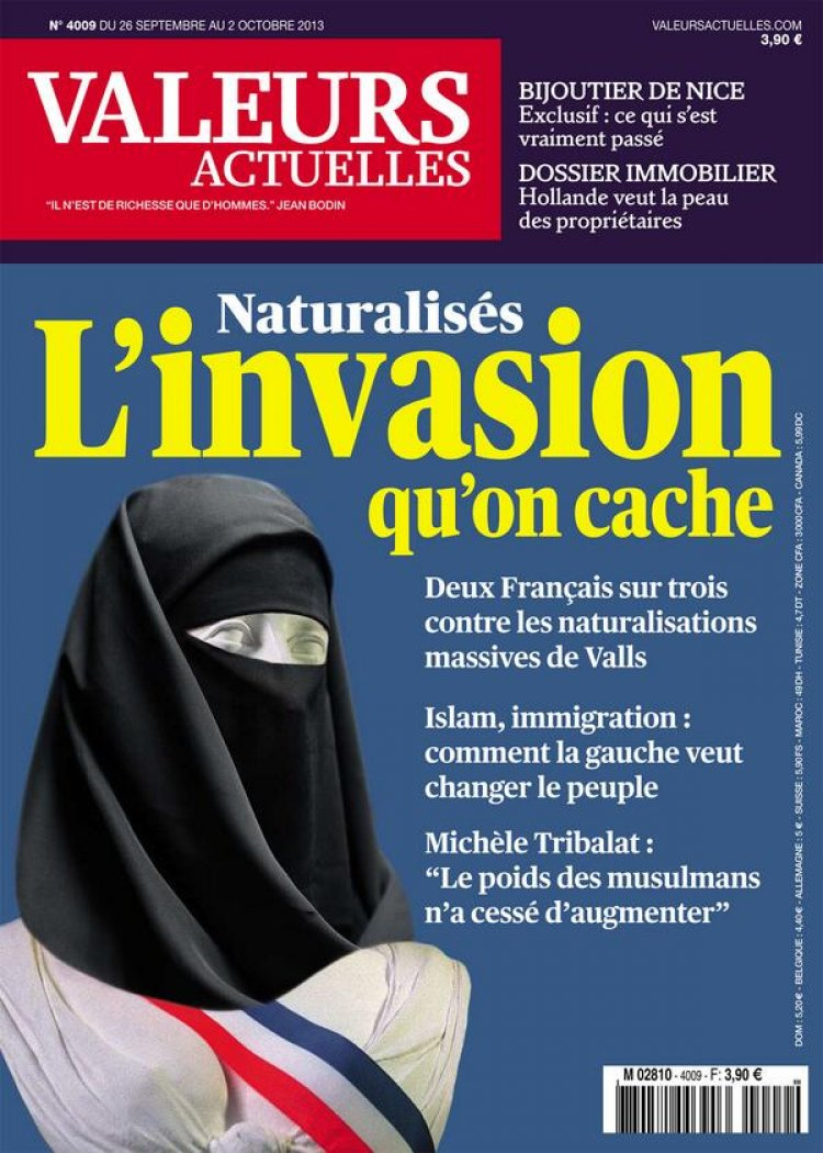 Valeurs Actuelles Cover for September 2013 Issue