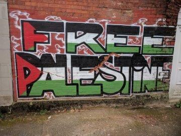 Free Palestine Street Art - Rochdale