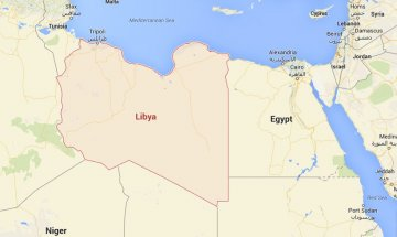 Map showing Libya