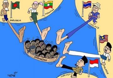 Rohingya on a Boat