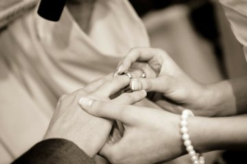 Wedding Ring being put on finger